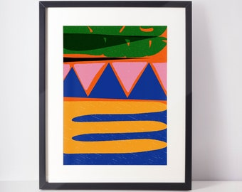 Native Art Print | Tropical Art | Bold colorful art