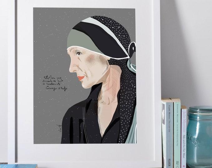 Georgia O'keefe  | Artists | Painter | cubicle decor | Art Lover