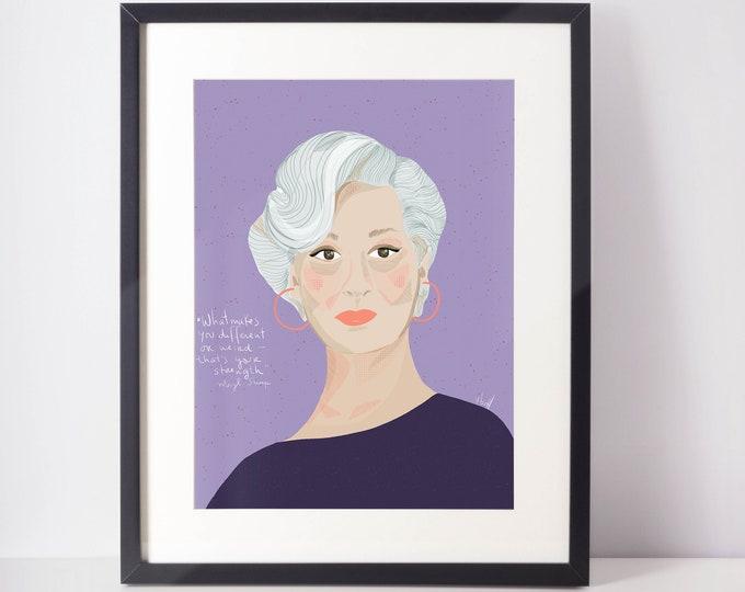 Meryl Streep  portrait | Iconic women | Hollywood queen