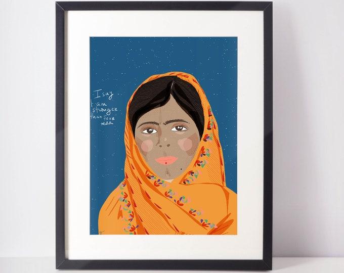 Malala Portrait   Fearless women
