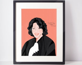 Sonia Sotomayor | cubicle decor | Lawyer office Art | Girl power decor