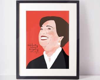 Elena Kagan Portrait / Cubicle decor Art Print /  Lawyer Office Art / Law student gift