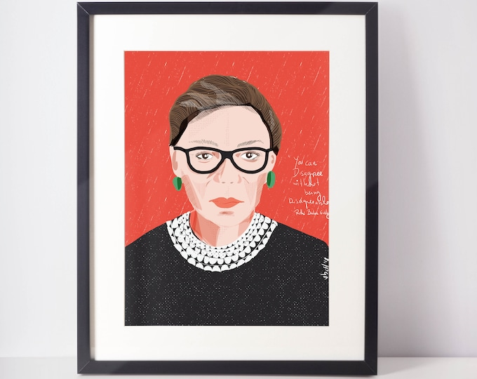 Featured listing image: Ruth Bader Ginsburg Print