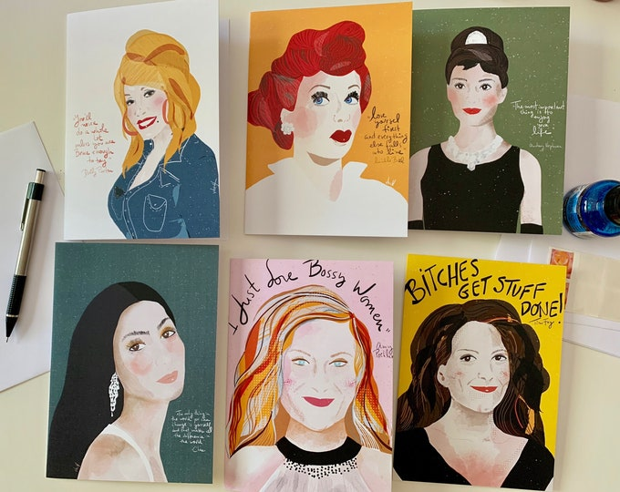 Embrace your Bossiness Card pack | Set of 6 blank greeting cards |