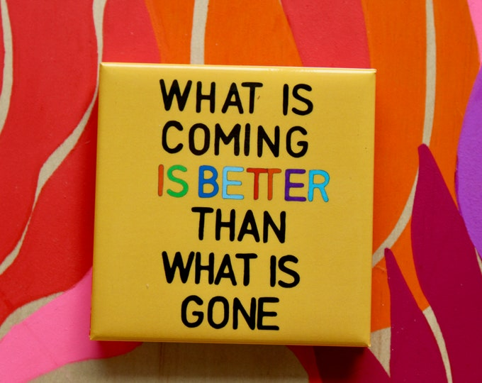 Featured listing image: fridge magnet | Good vibes | Positive Mantra