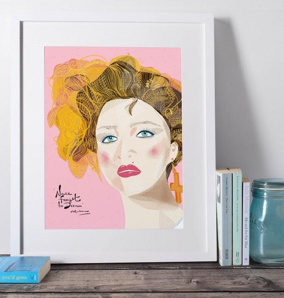 Madonna  portrait | Pop Queen   | Pink Art