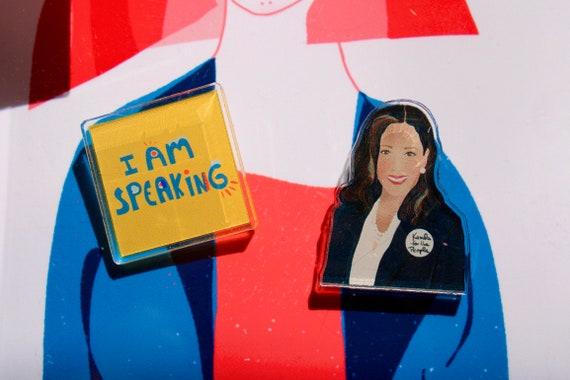 Kamala Harris Pin Set, Novelty Graduation gift, Girl inspiration