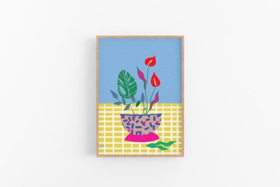 Flowers for Spring Cubicle Decor Art Print | Mother's Day gift