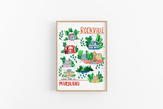 Rockville, Maryland | Favorite Places | Cubicle Decor | Wall Art