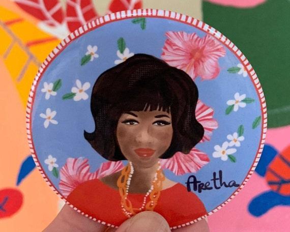 Aretha Franklin Inspired Magnet