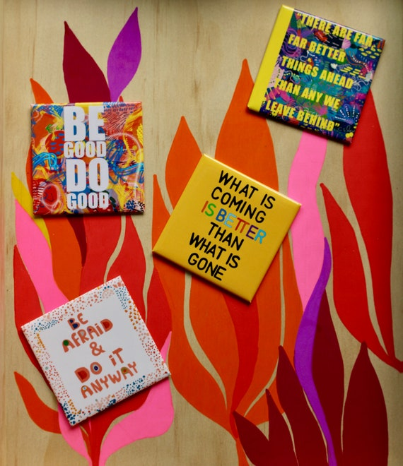 Set of 4 Badass advice, Fridge magnet, BFF gifts, Gift under 20, Coworkers gifts