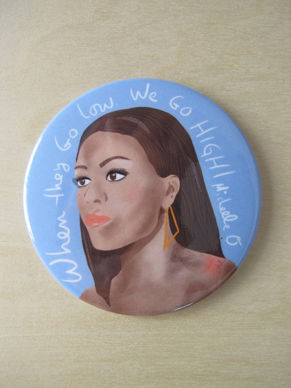 Michelle Obama fridge magnet