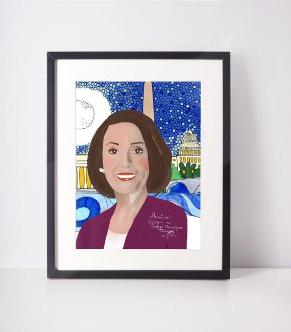 Nancy Pelosi Print ~ Ready to Frame Office Art   Fan Art