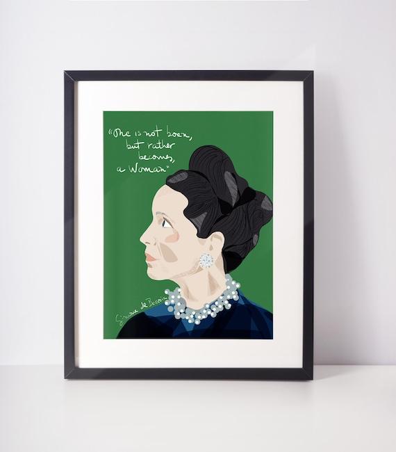 Simone de Beauvoir Portrait   iconic women