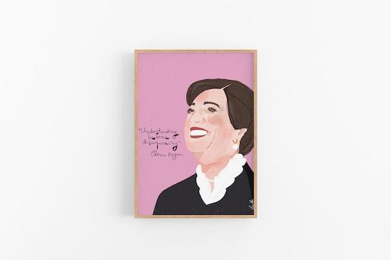 Elena Kagan Portrait Art Print Cubicle Decor