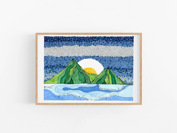 Nicaragua Art Print | Fresh Home Decor | Wanderlust Art | Fun Cubicle Decor