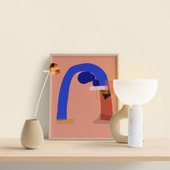 Clay Art Bedroom Art, Home Office art print,  Modern Wall Art