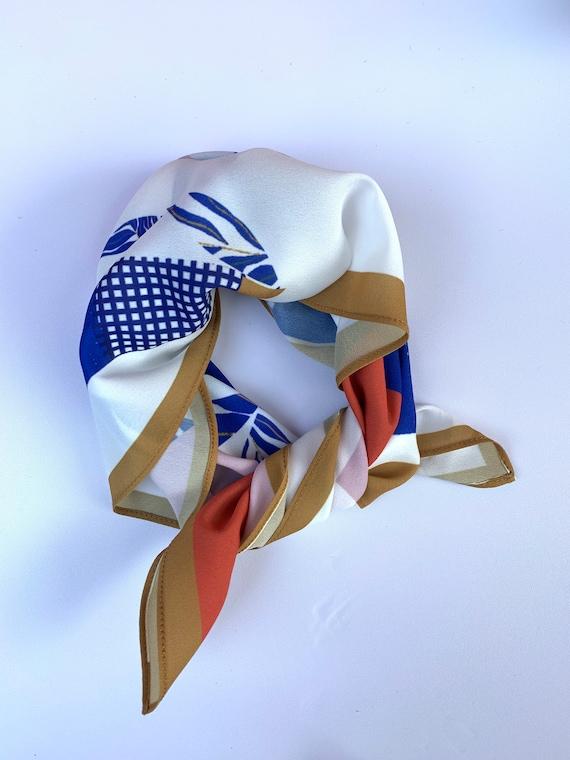Blue Arch Silk Bandana | Gifts under 30