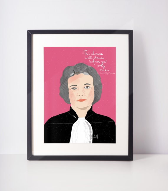 Sandra Day O'Connor, Supreme Court Women Art print, Lawyers Gifts