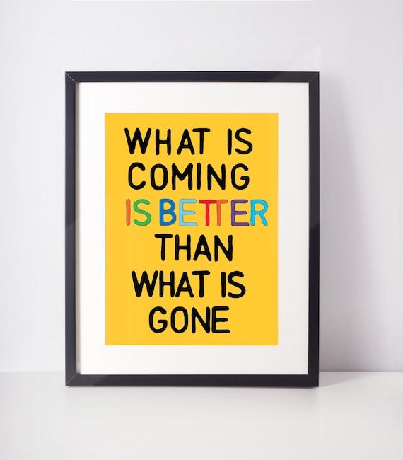 Optimistic Wall Art, Living Room Decor, Affirmation Art Print