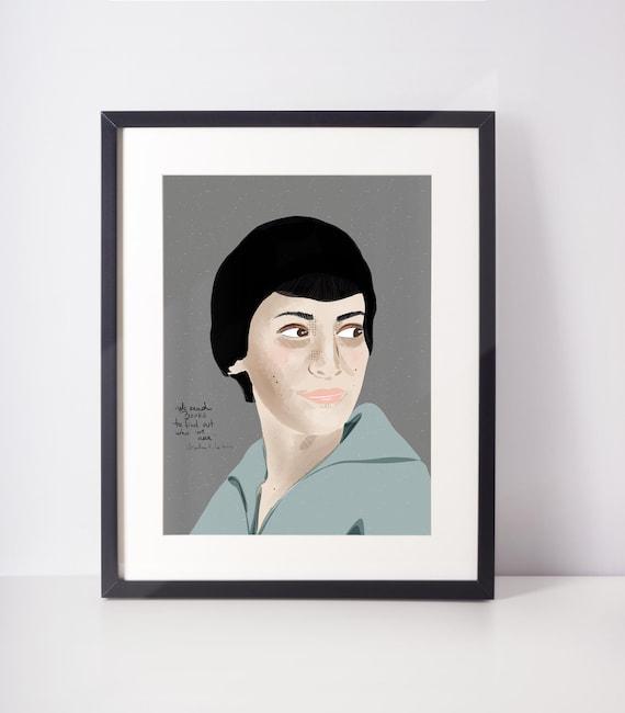 Ursula K. Le Guin Art Print, Emerging Writer Essential Gift, Celebrity Portrait
