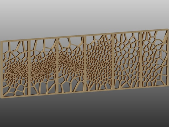 6 decorative panels pattern vector for laser cutting cnc etsy