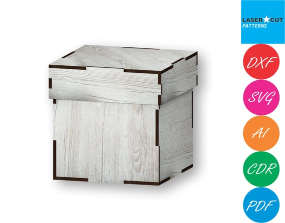 Instant Download Laser cut Files Boxes With Lid