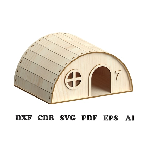 Hamster House Pattern Vector For Laser Cutting Cnc Svg Laser Cut Template Laser Cut Pattern Vector Model Vector Plan Instant Download