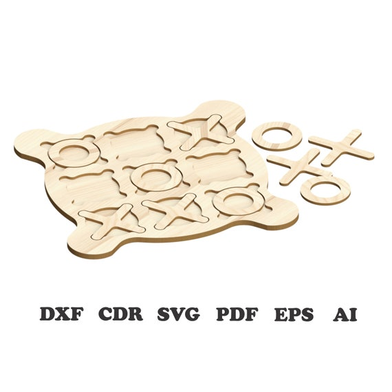 vector dxf svg Tic-Tac-Toe Pattern Vector for Laser Cutting CNC cnc files Instant download laser cut patterns laser cut files