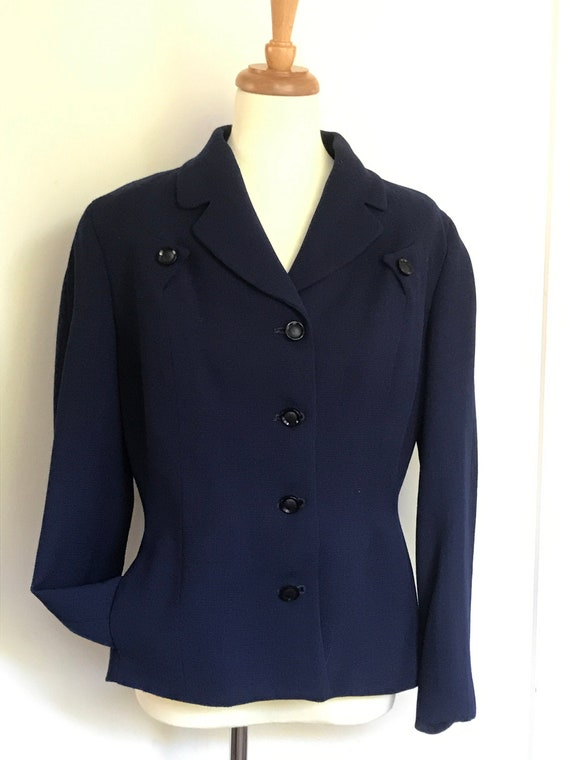 Vintage blue 1940s suit jacket