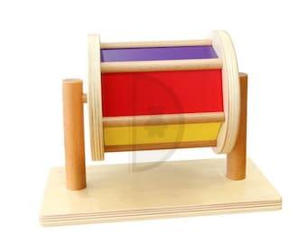 Montessori Spinning Drum| Baby Developmental Toy| Montessori Toy