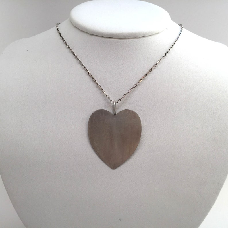 73e0d4b1f77c4 Big Large Heart Charm Pendant Choker Necklace 1.5