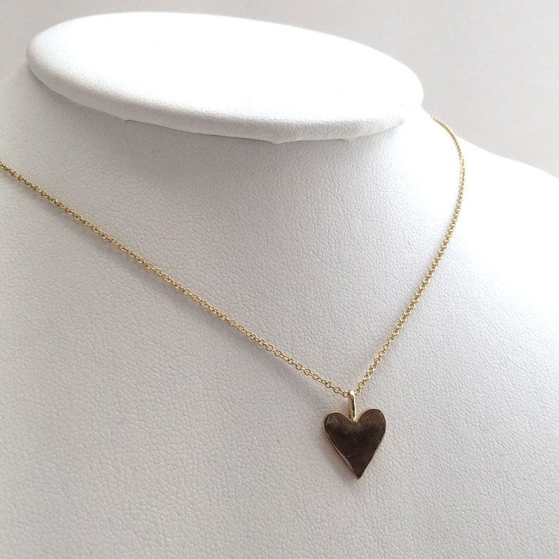 Small Heart Pendant Only Charm Necklace 1/2 6mm Solid image 0