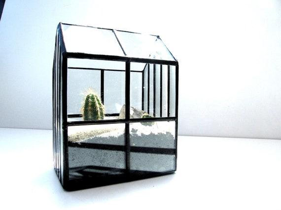 mini serre - jardin d\'interieur - terrarium -glas house -plantes vertes