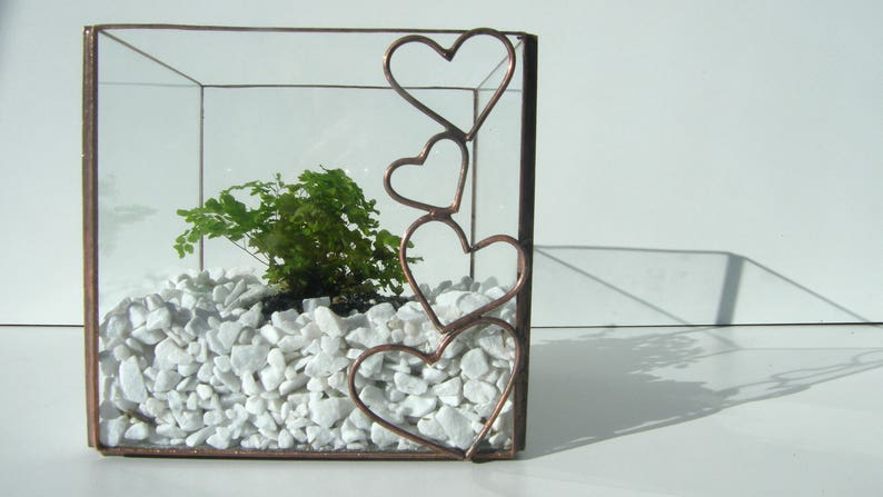 Terrarium Mini Glass Tiffany Stained Glass Stained Glass Etsy
