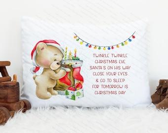 Christmas Eve pillow  designs for children Editable PSD *  Digital Design Template *exclusive Range  2 IN SET