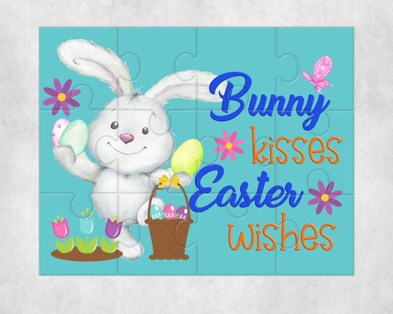 instant Digital Design Template sublimation Easter Puzzle design add your own text