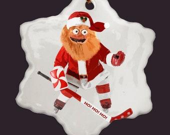 abd80a2cee9c7 Gritty Christmas Ornament Hockey Ornament Flyers Mascot Philadelphia  Holiday Hockey Gift Hockey Mom