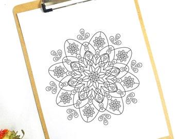 Coloring Page Mandala 1