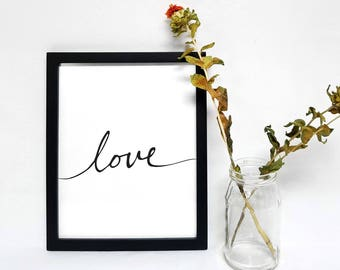 "Hand Calligraphy ""Love"" Printable"
