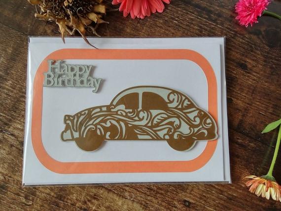 Jazzy Car Birthday Card