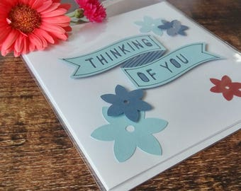 Thinking of You Sympathy Card in Blue