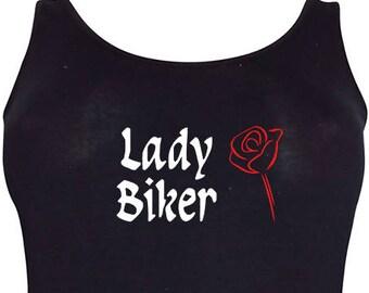 Lady Biker/Triker Ladies Longline vest top (Choose your design) In Plus Sizes 20 - 36