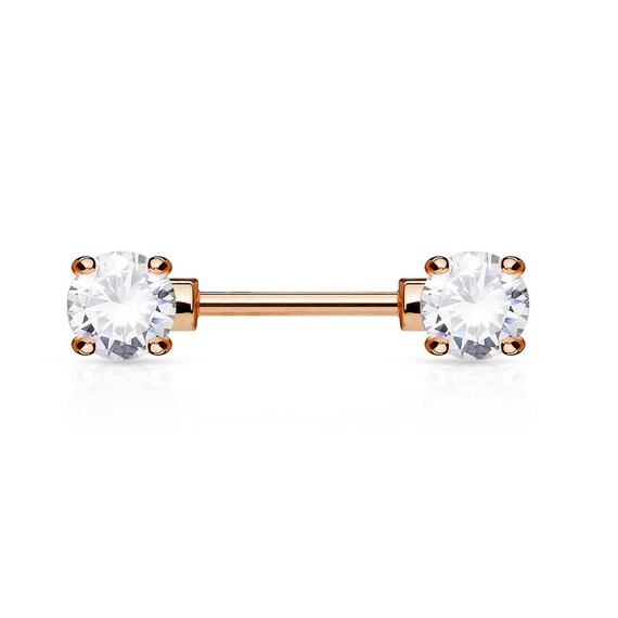 Single one ..Also in 12mm or 14mm Nipple 4mm Cz Barbell..14g..16mm..Surgical Steel