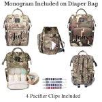 Backpack Diaper Bag/Monogram Diaper Bag/Tote Bag/Baby Bag/Backpack PersonalizedDiaper Bag Backpack/Backpack/Diaper Bag/Camo Diaper Bag