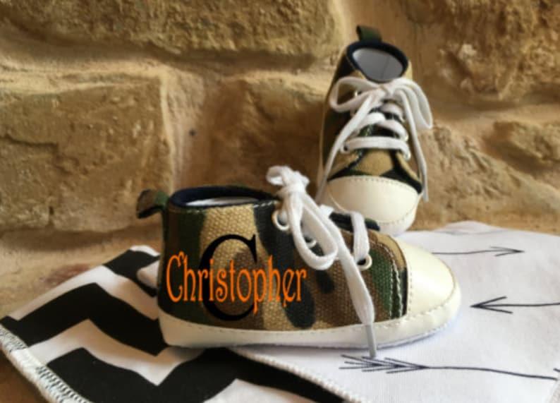 Baby Boy Camo Shoes/Boy Shoes/High Top Boy Shoes/Baby image 0