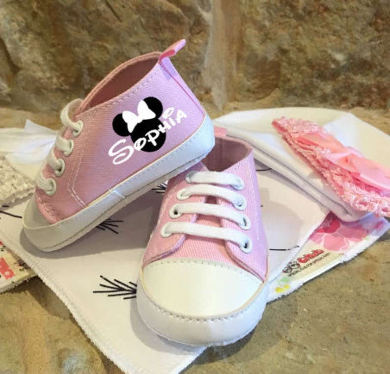 High Top Shoes/Baby Custom Girl Shoes/Baby Shoes/Birth image 0