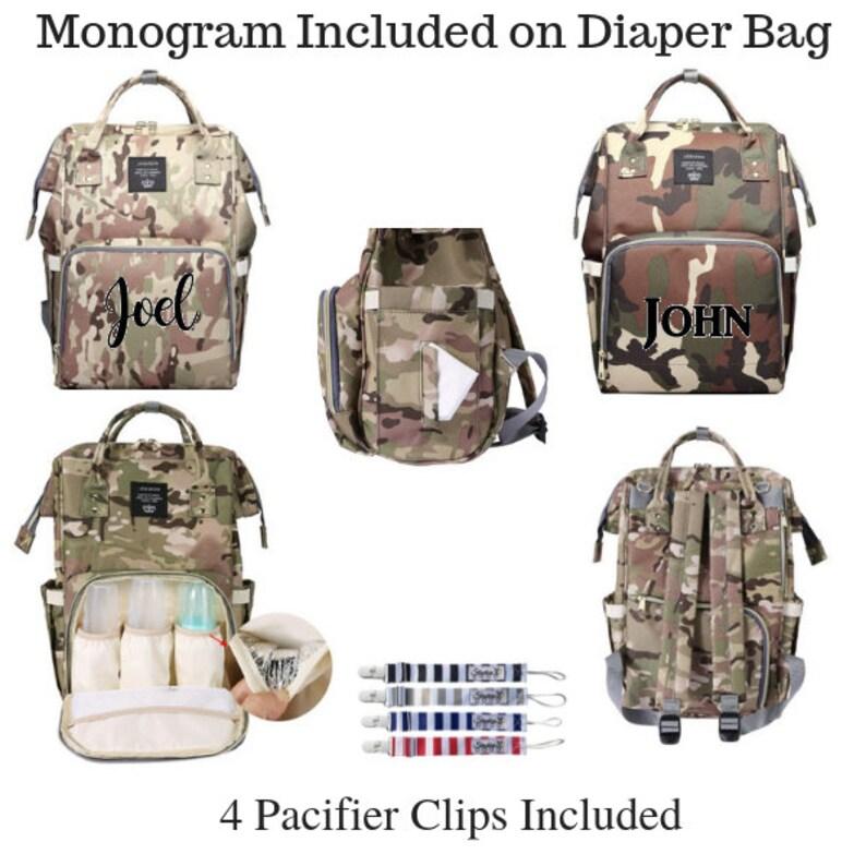 Backpack Diaper Bag/Monogram Diaper Bag/Tote Bag/Baby image 0