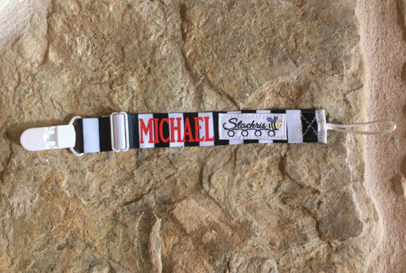 Pacifier Holder/Pacifier Clip Boys/Personalized Pacifier image 0