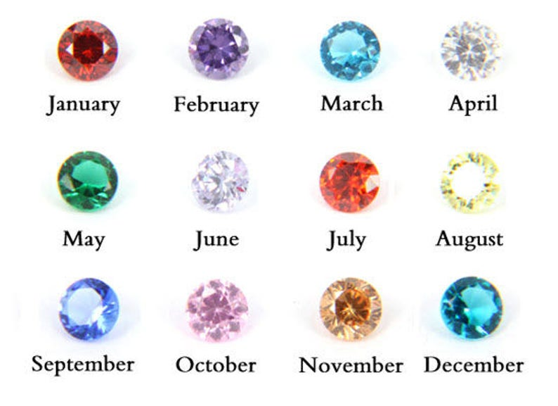 Birthstone Charms/Floating Birthstone Charms/Jewelry/Floating image 0